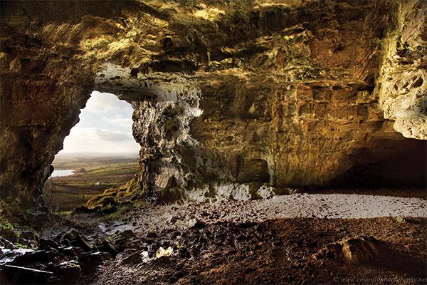 Caves of Kesh Sligo View from inside caves